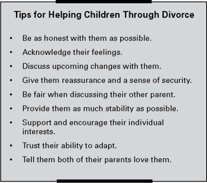 Tips for helping Children Through a Divorce