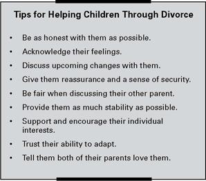 Tips for helping Children Through a Divorce