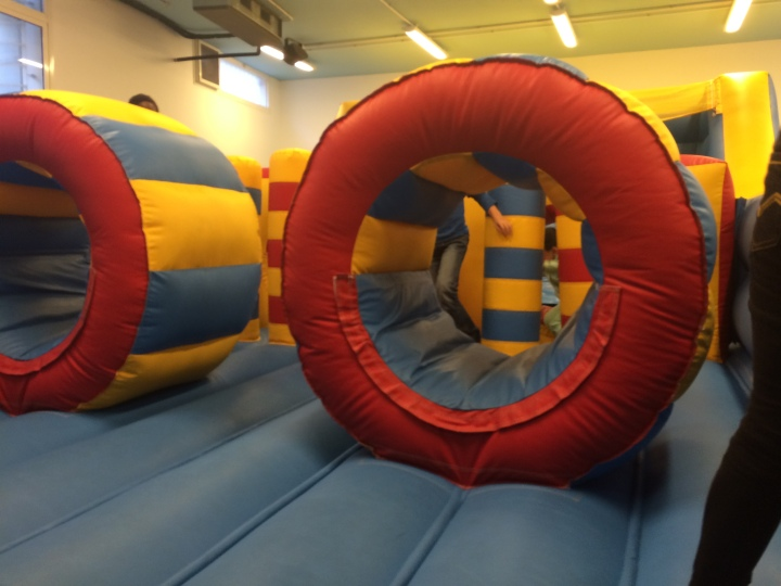 inflatable jumping area