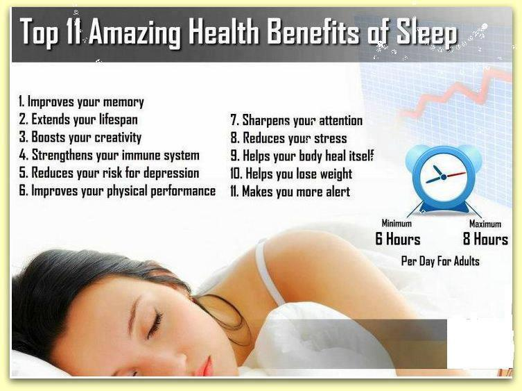 benefits of sleeping early