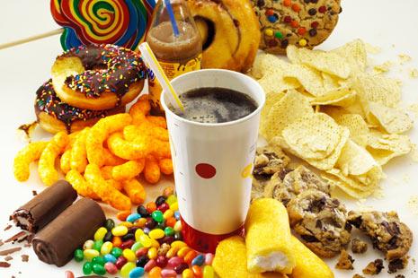limit junk food!