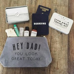 Now that's a nice message to read when dad's away on a business trip!