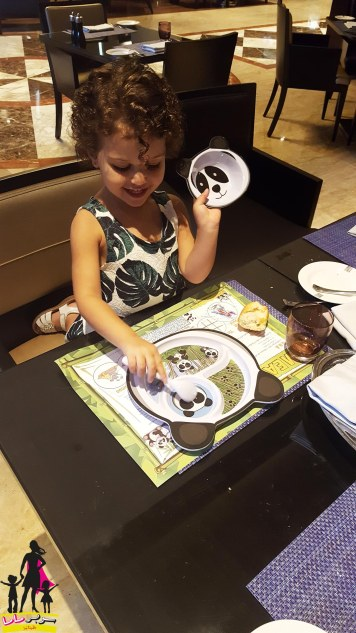 Kids get their own plate and cutlery sets to make them feel extra special!