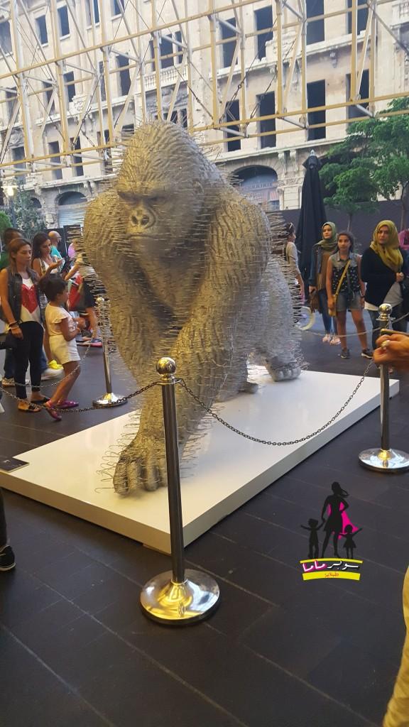 Artist: David Mach courtesy of Opera Gallery. Find it in front of Virgin Megastore in the Beirut Souks